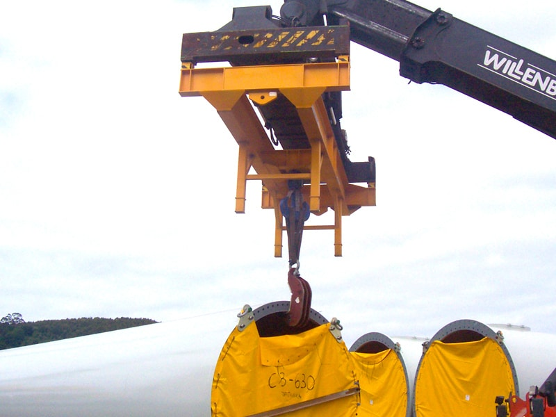 reach stacker attachment hook tec container au
