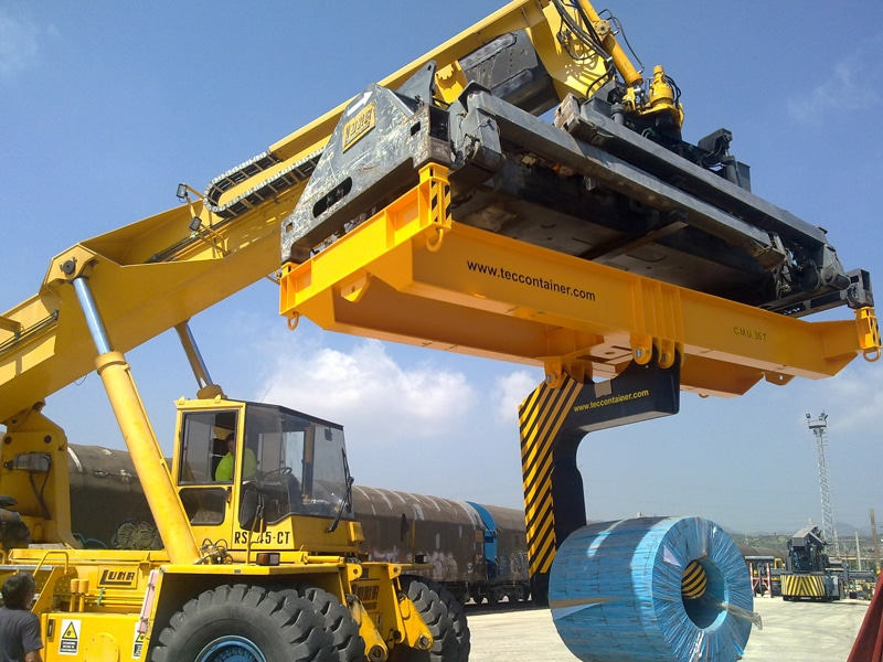 reach stacker attachments coil handler