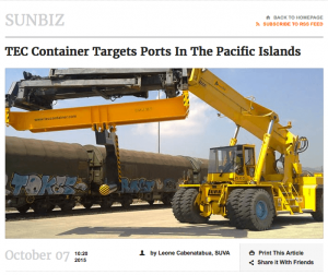 Tec Container targets ports in the pacific islands article