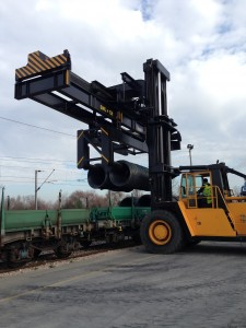forklift truck attachment in action min