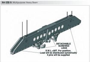 multipurpose heavy spreader beam tec container asia pacific