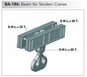 ba 186 beam for tandem cranes min