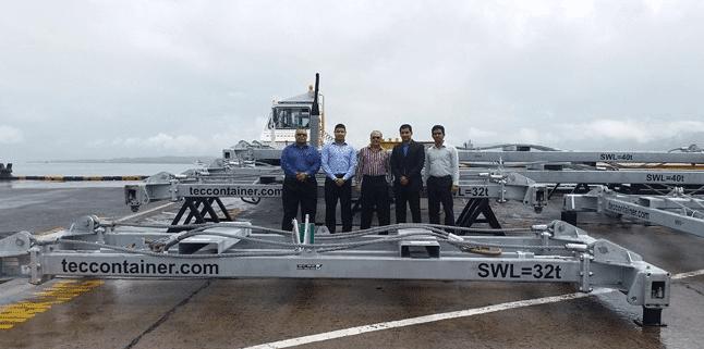 semi automatic container spreader Fiji
