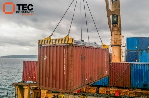 Tec Container Spreader at Vanuatu