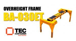 tec container overheight frame napier port