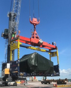 Tec Container overheight frame at Darwin Port