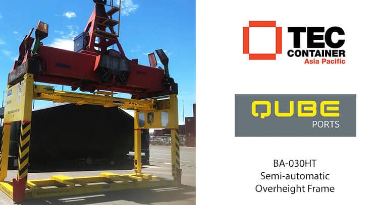 tec container over height frame at QUBE