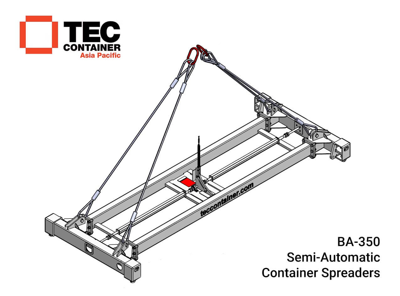 BA 350 semiautomatic container spreader