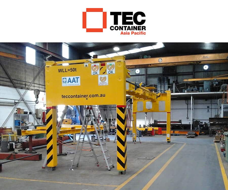AAT Improves Productivity by Using Tec Container Overheight Frame
