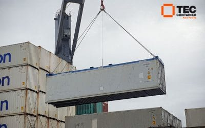 Tec Container Spreaders in Operation at Betham Brothers Depot
