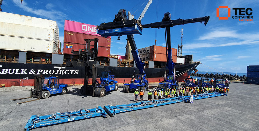 tec container spreaders and reach stacker attachments in Samoa