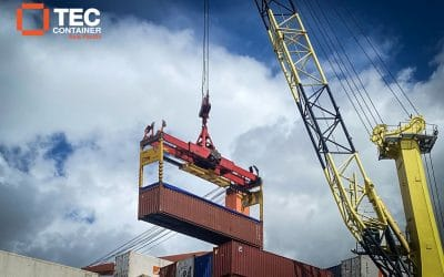 Tec Container Over Height Frame in Operation in Tahiti